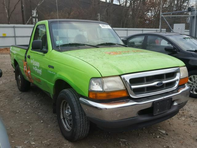 1FTYR10C7YTA21849 - 2000 FORD RANGER GREEN photo 1