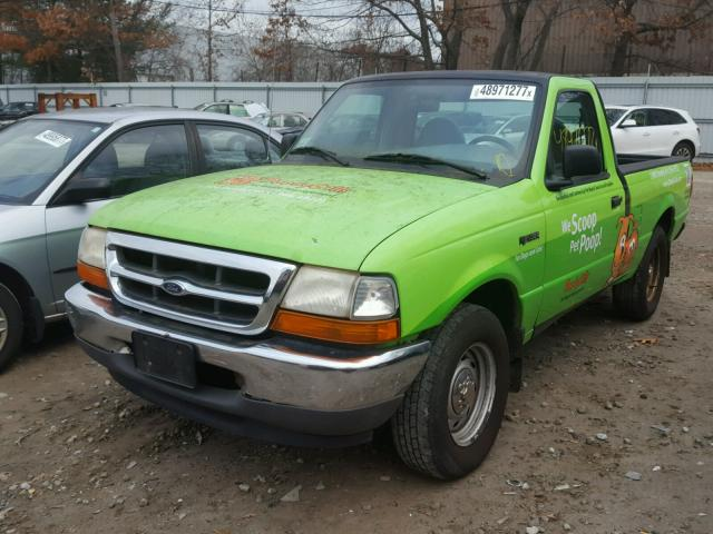 1FTYR10C7YTA21849 - 2000 FORD RANGER GREEN photo 2
