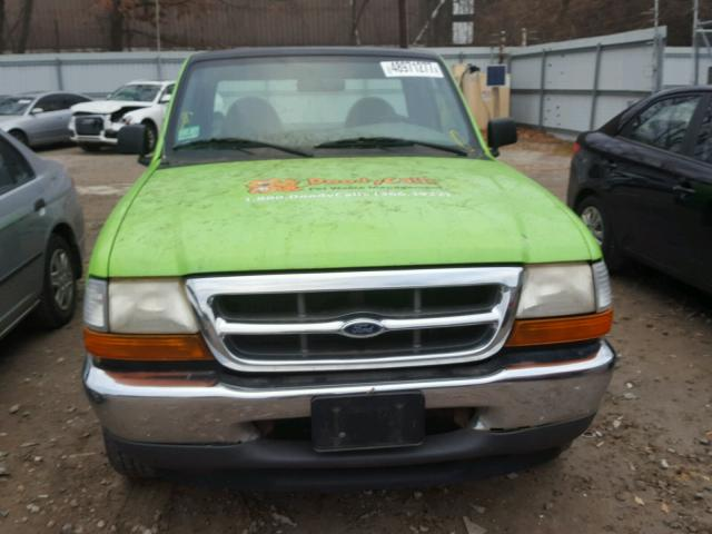 1FTYR10C7YTA21849 - 2000 FORD RANGER GREEN photo 9