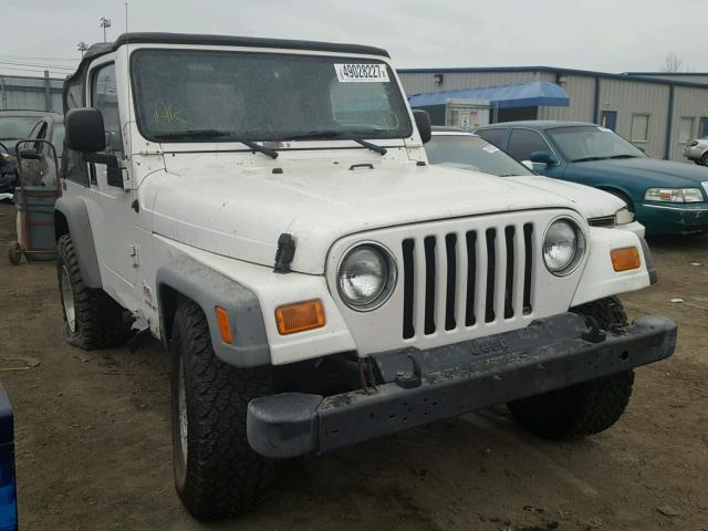 1J4FA49S23P330523 - 2003 JEEP WRANGLER / WHITE photo 1