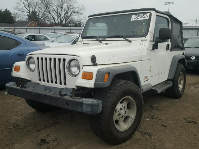 1J4FA49S23P330523 - 2003 JEEP WRANGLER / WHITE photo 2