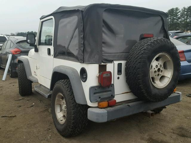 1J4FA49S23P330523 - 2003 JEEP WRANGLER / WHITE photo 3