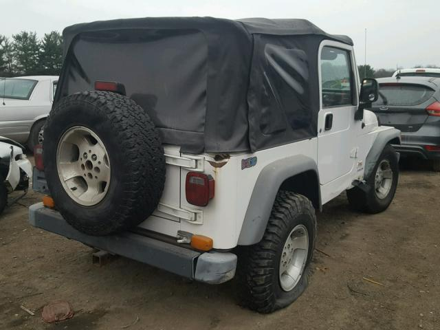 1J4FA49S23P330523 - 2003 JEEP WRANGLER / WHITE photo 4