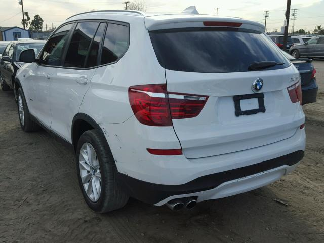 5UXWZ7C56G0R31837 - 2016 BMW X3 SDRIVE2 WHITE photo 3