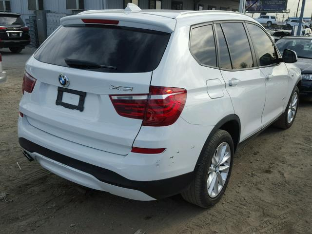 5UXWZ7C56G0R31837 - 2016 BMW X3 SDRIVE2 WHITE photo 4