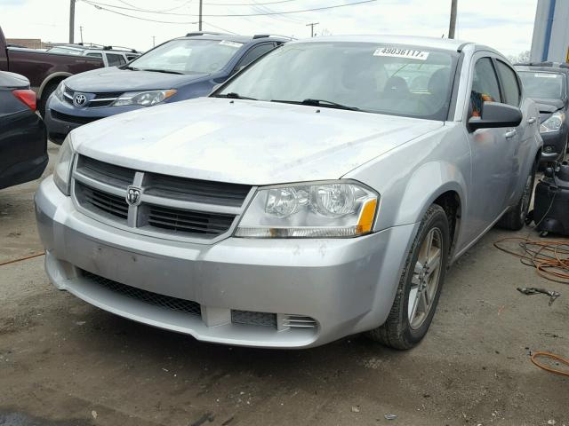 1B3LC46K88N622981 - 2008 DODGE AVENGER SE SILVER photo 2