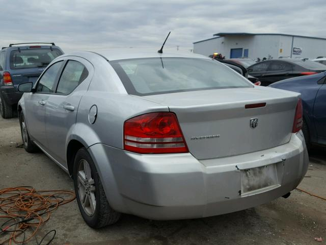 1B3LC46K88N622981 - 2008 DODGE AVENGER SE SILVER photo 3
