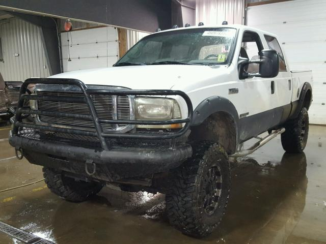 1FTNW21FX1EB96939 - 2001 FORD F250 SUPER WHITE photo 2