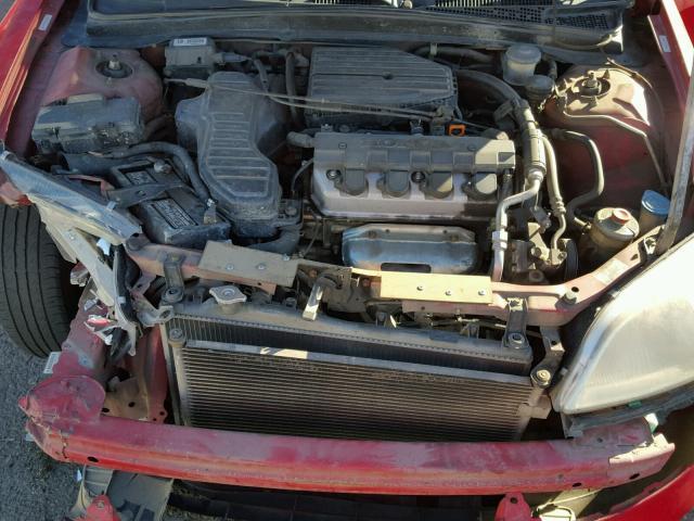 1HGEM21501L007659 - 2001 HONDA CIVIC LX RED photo 7