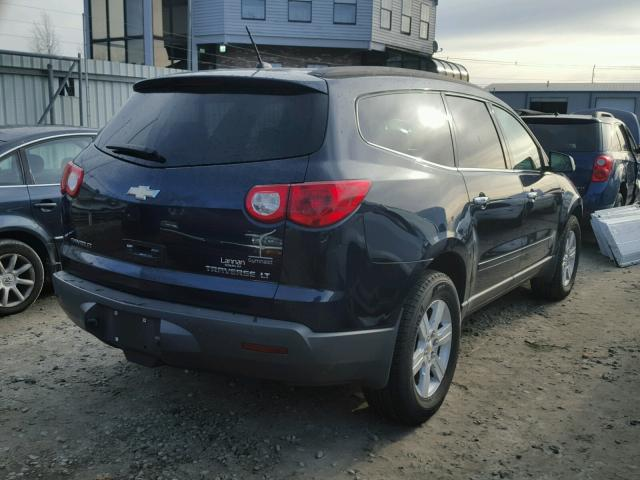 1GNLVFED4AS105456 - 2010 CHEVROLET TRAVERSE L BLUE photo 4