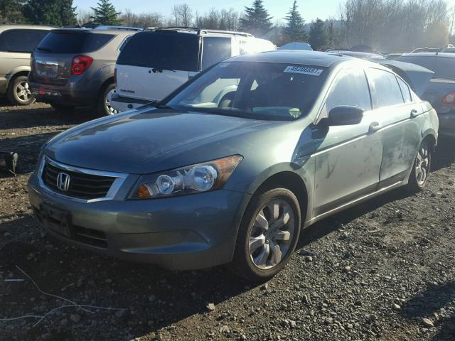 1HGCP26869A112618 - 2009 HONDA ACCORD EXL GREEN photo 2