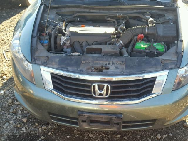 1HGCP26869A112618 - 2009 HONDA ACCORD EXL GREEN photo 7