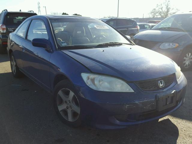 1HGEM22944L023269 - 2004 HONDA CIVIC EX BLUE photo 1