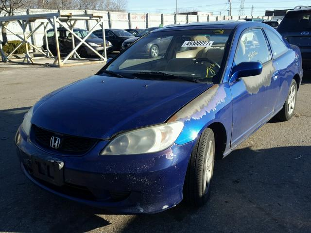 1HGEM22944L023269 - 2004 HONDA CIVIC EX BLUE photo 2