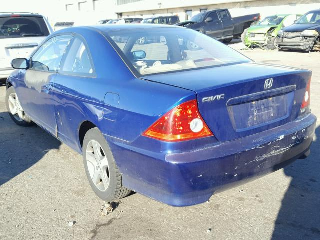 1HGEM22944L023269 - 2004 HONDA CIVIC EX BLUE photo 3