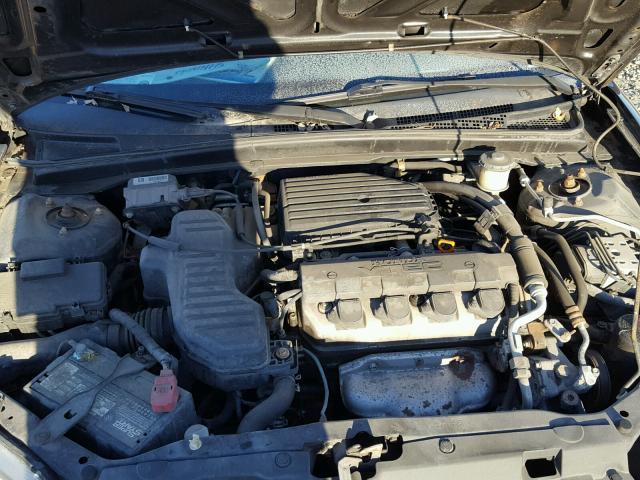 1HGEM22942L011362 - 2002 HONDA CIVIC EX BLACK photo 7
