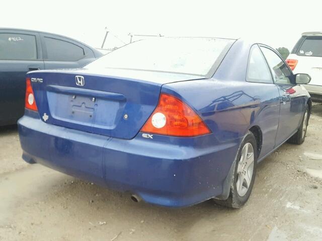 1HGEM22925L004625 - 2005 HONDA CIVIC EX BLUE photo 4