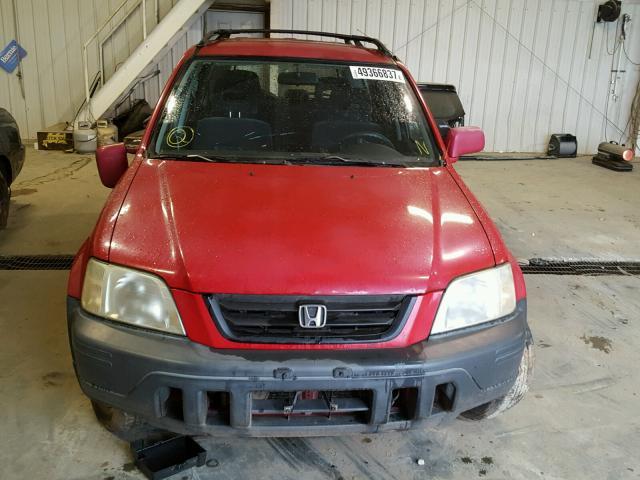 JHLRD1862YC009788 - 2000 HONDA CR-V EX RED photo 9