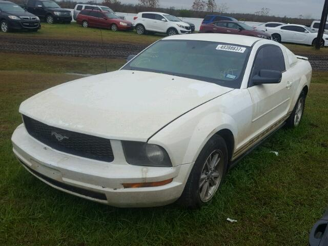 1ZVHT80NX85208600 - 2008 FORD MUSTANG WHITE photo 2
