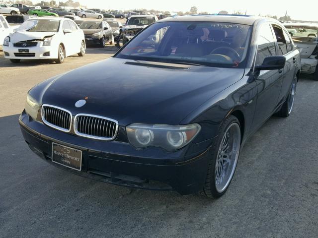 WBAGL63482DP53159 - 2002 BMW 745 I BLACK photo 2