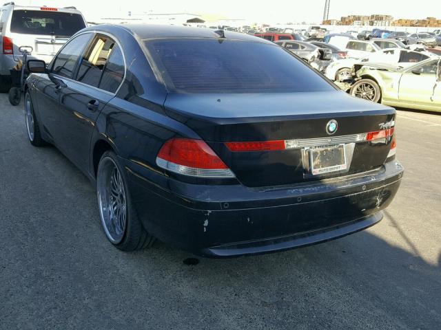 WBAGL63482DP53159 - 2002 BMW 745 I BLACK photo 3