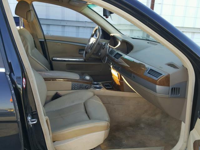 WBAGL63482DP53159 - 2002 BMW 745 I BLACK photo 5