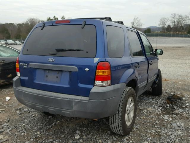 1FMYU03157KB68092 - 2007 FORD ESCAPE XLT BLUE photo 4