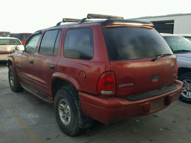 1B4HS28Z7XF528604 - 1999 DODGE DURANGO RED photo 3