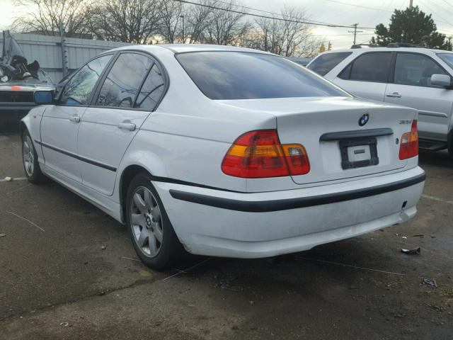 WBAET37492NG78095 - 2002 BMW 325 I WHITE photo 3