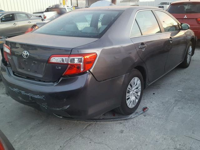 4T4BF1FK4ER371623 - 2014 TOYOTA CAMRY L GRAY photo 4