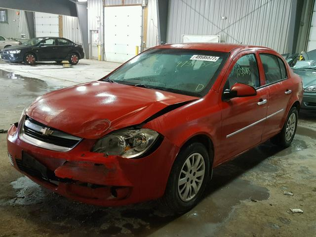 1G1AD5F52A7115273 - 2010 CHEVROLET COBALT 1LT RED photo 2