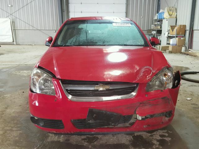 1G1AD5F52A7115273 - 2010 CHEVROLET COBALT 1LT RED photo 9
