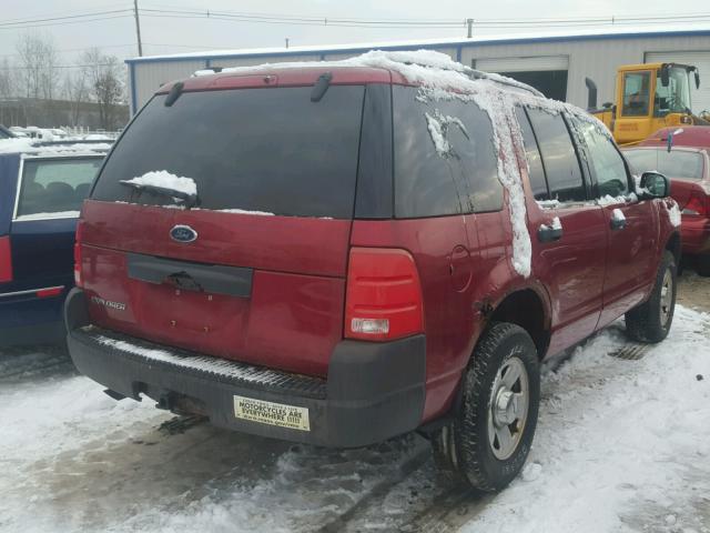 1FMZU72K93UC35007 - 2003 FORD EXPLORER X RED photo 4