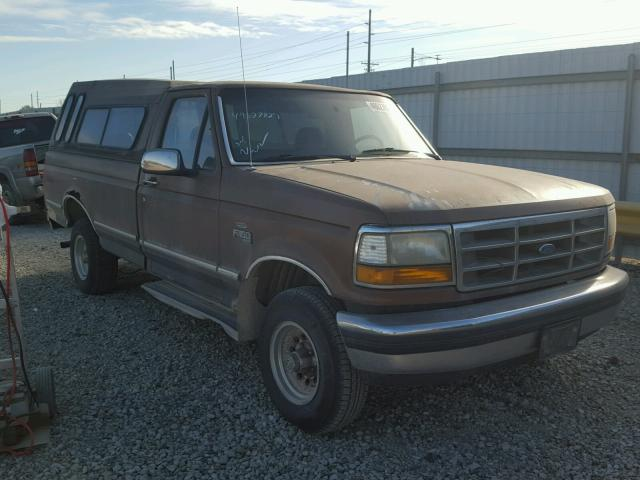 1FTEF14N6NLA50066 - 1992 FORD F150 BROWN photo 1