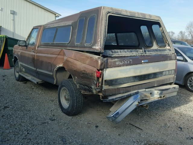 1FTEF14N6NLA50066 - 1992 FORD F150 BROWN photo 3