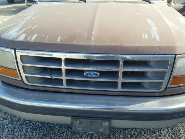 1FTEF14N6NLA50066 - 1992 FORD F150 BROWN photo 7