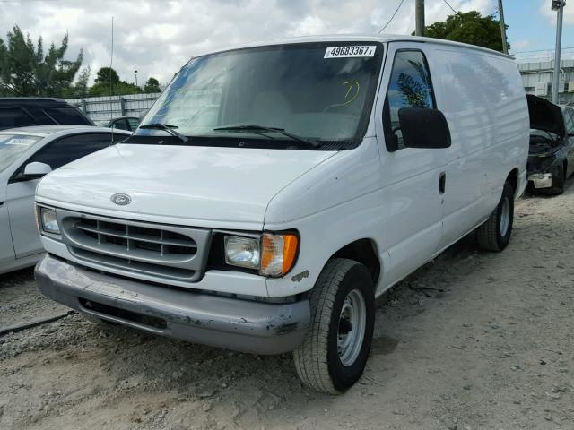 1FTRE14221HB39060 - 2001 FORD ECONOLINE WHITE photo 2