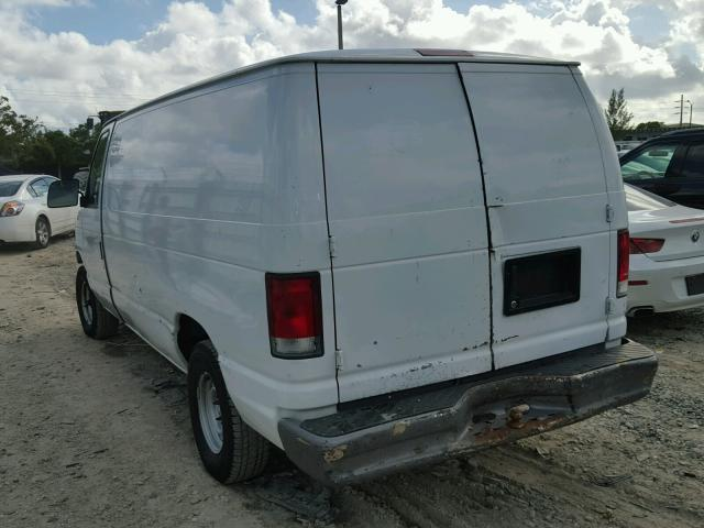 1FTRE14221HB39060 - 2001 FORD ECONOLINE WHITE photo 3