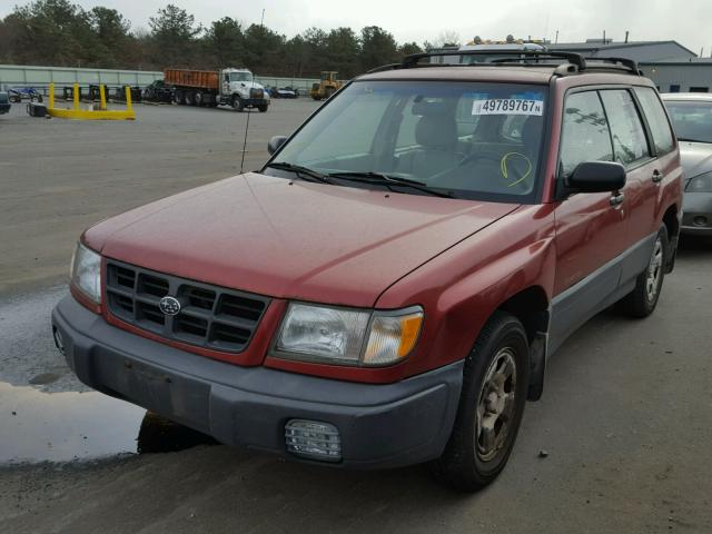 JF1SF6350WH777957 - 1998 SUBARU FORESTER L RED photo 2
