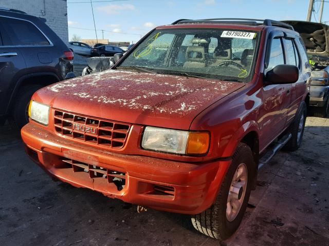 4S2CM58W2X4337560 - 1999 ISUZU RODEO S RED photo 2