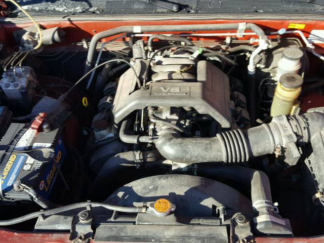 4S2CM58W2X4337560 - 1999 ISUZU RODEO S RED photo 7