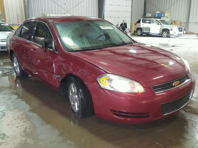 2G1WT58N989170169 - 2008 CHEVROLET IMPALA LT BURGUNDY photo 1