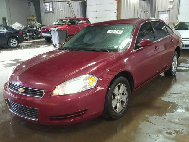 2G1WT58N989170169 - 2008 CHEVROLET IMPALA LT BURGUNDY photo 2