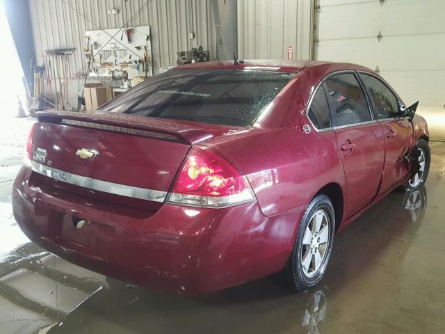 2G1WT58N989170169 - 2008 CHEVROLET IMPALA LT BURGUNDY photo 4