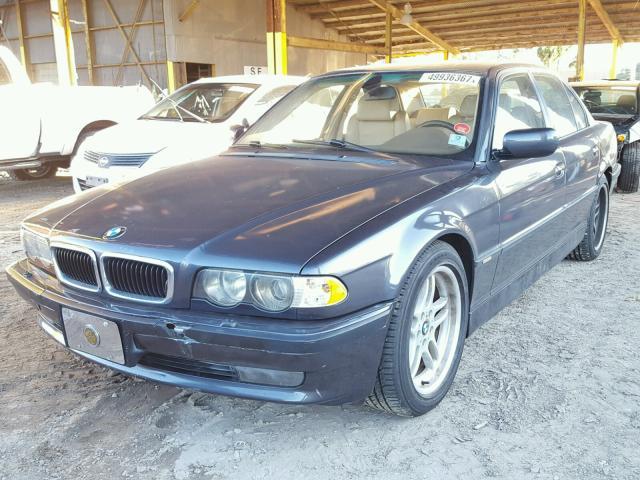 WBAGG83491DN85885 - 2001 BMW 740 I AUTO WHITE photo 2