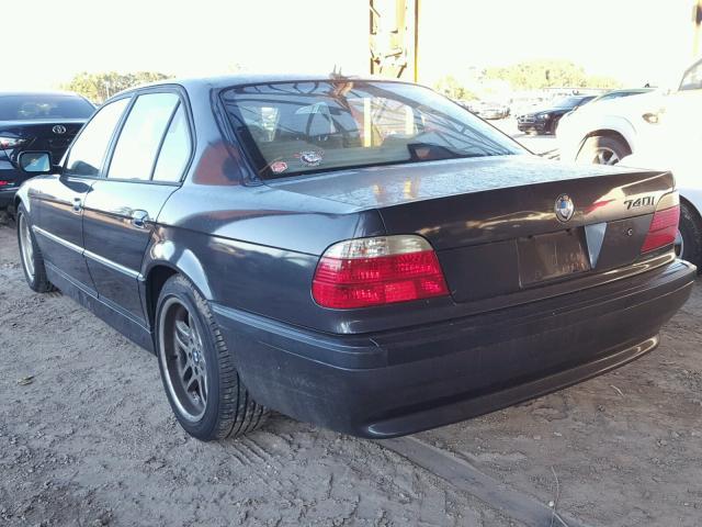 WBAGG83491DN85885 - 2001 BMW 740 I AUTO WHITE photo 3
