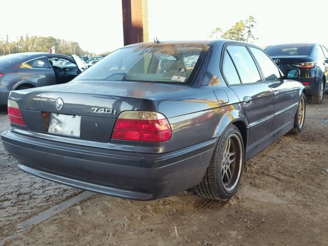 WBAGG83491DN85885 - 2001 BMW 740 I AUTO WHITE photo 4
