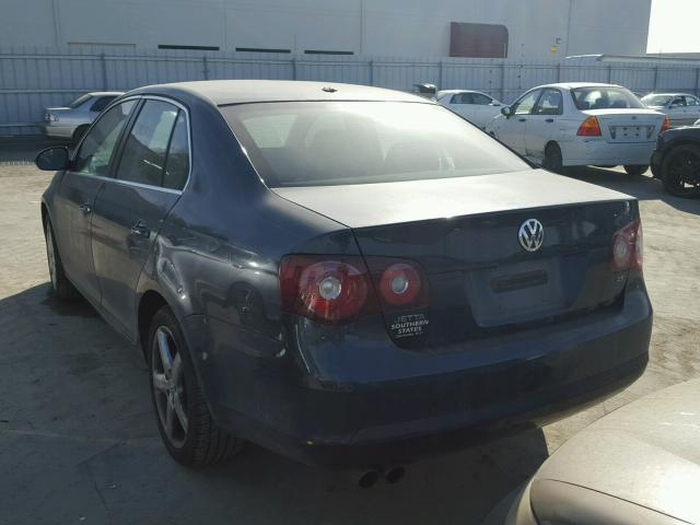 3VWRM71K09M030207 - 2009 VOLKSWAGEN JETTA SE BLUE photo 3