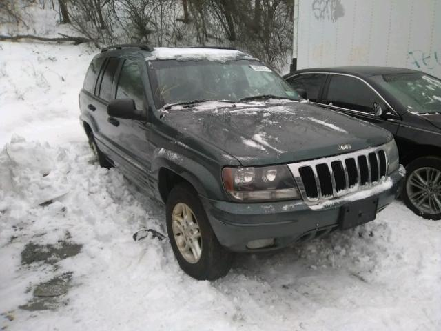 1J4GW48S02C268956 - 2002 JEEP GRAND CHER GREEN photo 1