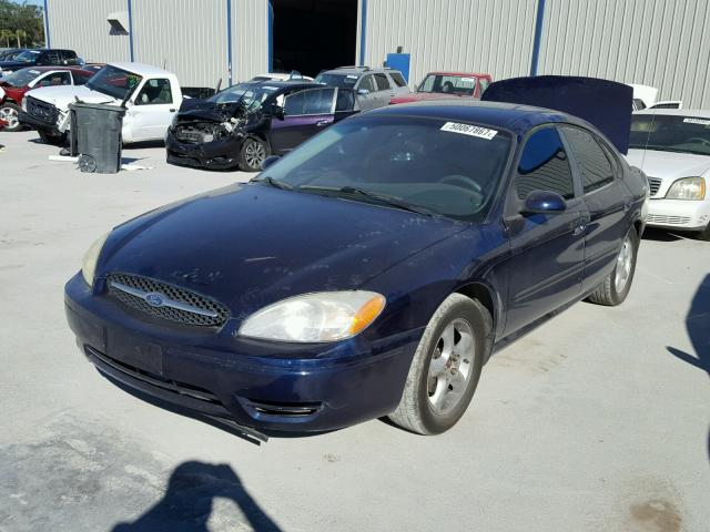 1FAFP55U3YG233183 - 2000 FORD TAURUS SES BLUE photo 2